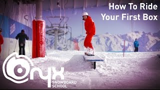 How To Ride (50-50) Your First Box - Freestyle Snowboard Trick Tip Tutorial
