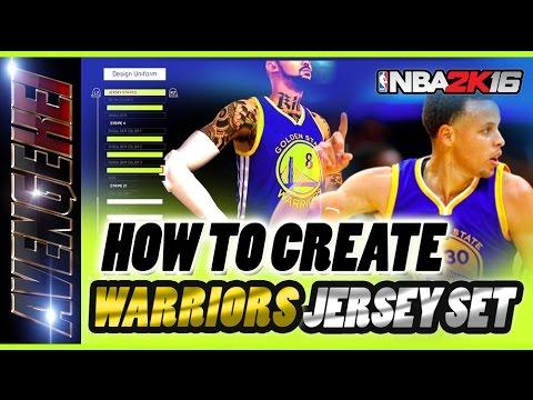 598f7041020 NBA 2K16 Pro am - Warriors Court   Jersey Creation TUTORIAL ( FREE HD  IMAGES )