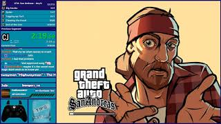 GTA San Andreas Any% Tweleve Speedrun - Hugo_One Twitch Stream - 1/2/2018