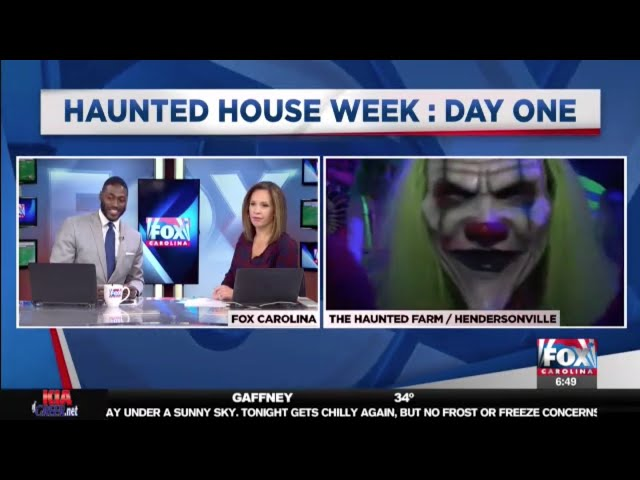 The Haunted Farm 2018 | Sprinkles & Trixie kidnap Fox Carolina's Joe Gagnon on LIVE TV