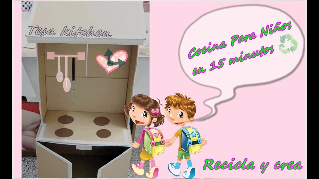 Cocina de juguete para ni os con cajas de cart n children for Cocina para ninos