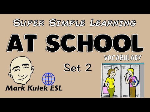 At School | Set 2 | Basic Vocabulary Practice | ESL | EFL