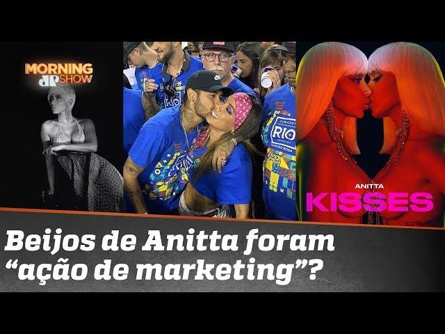 """Beijo da Anitta em Neymar e outros no Carnaval: """"ação de marketing""""?"""