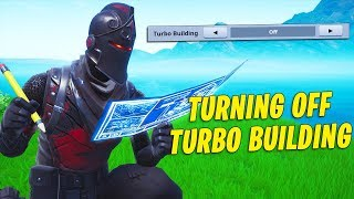 Playing Fortnite but WITHOUT Turbo Building...