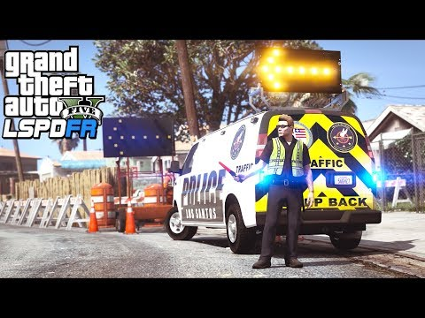GTA 5 - LSPDFR Ep458 - Construction Zone Police Traffic Control!!
