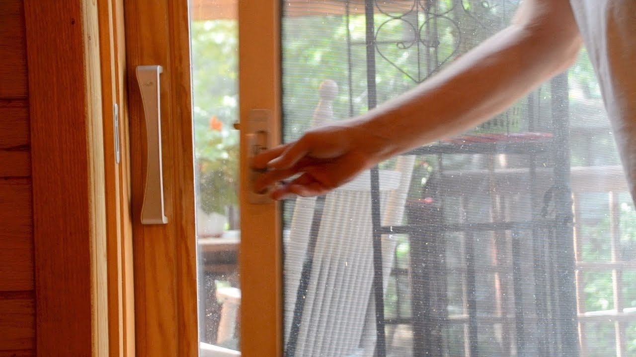 how to install a pella sliding patio door screen