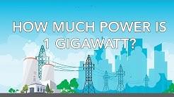 How much power is 1 gigawatt?
