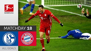 Lewandowski Extends Record! | FC Schalke 04 - FC Bayern München | 0-4 | All Goals | Matchday 18