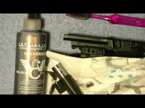 Cleaning the Five Seven After Range shooting