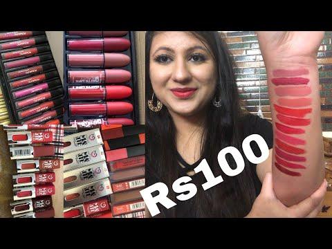 huge-affordable-lipstick-declutter-sale-haul-|-lipstick-under-rs100-|-affordable-makeup-india