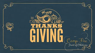2020 Happy Thanksgiving from the Camp Fire Heart of Oklahoma Staff
