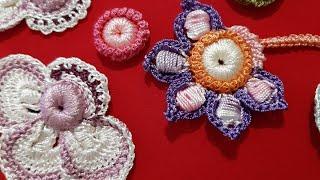 Вязание крючком. Техника ирландское кружево. Элементы декора для изделия.Урок 1- обрамлённая ягодка.