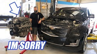 I Modded My WIFES Escalade! It BLEW UP...Heres What Happened