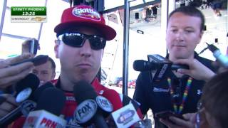 Busch tight-lipped after meeting in NASCAR hauler