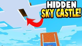 BUILDING A FLOATING SKY CASTLE! - Minecraft Gameplay - Crafting a Brick Rigs Lego Statue!