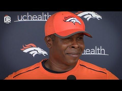 After practice: Head Coach Vance Joseph