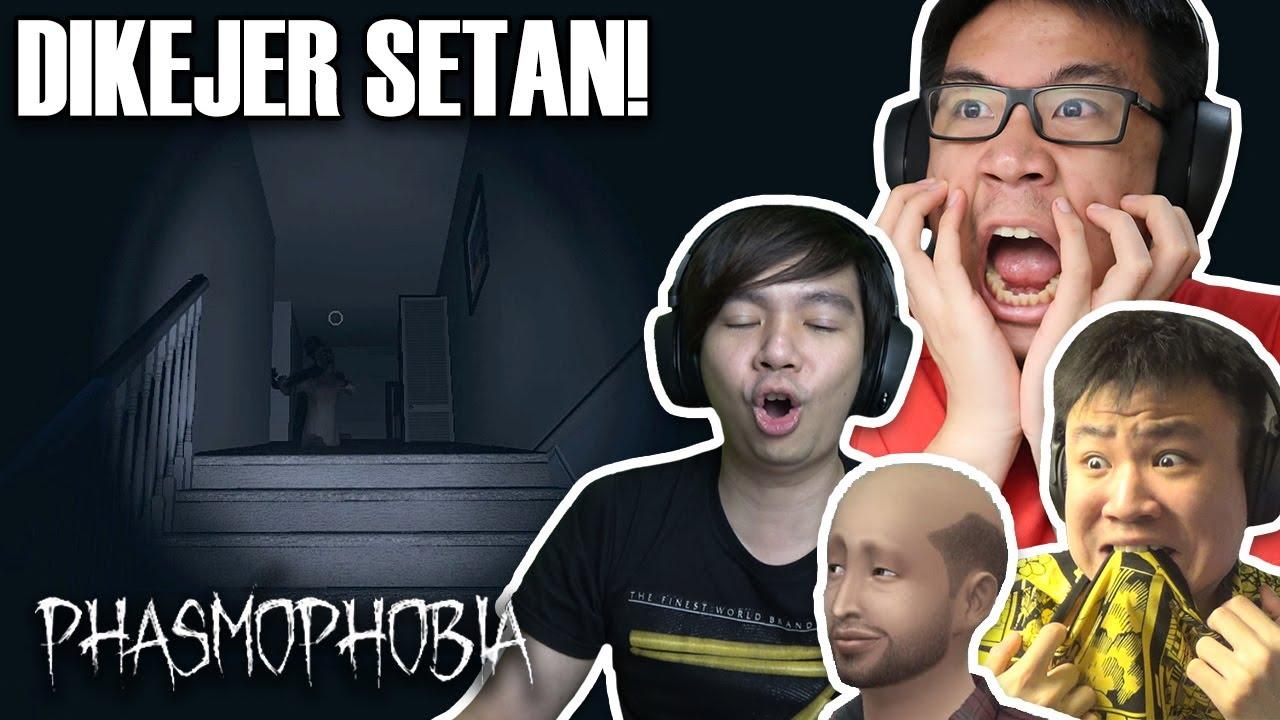 KALI INI KITA DIKEJER SETANNYA! - Phasmophobia Indonesia (w/ MiawAug, VianoGaming & The Jooomers)