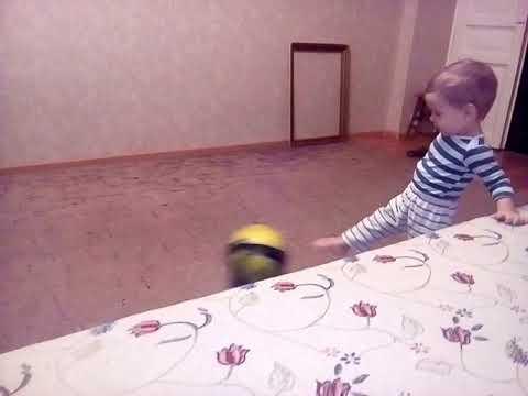 Домашняя тренировка самого маленького футболиста (часть 3)