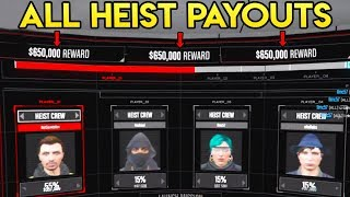 GTA Online - ALL DOOMSDAY HEIST PAYOUT TOTALS! What Each Heist Act Pays!