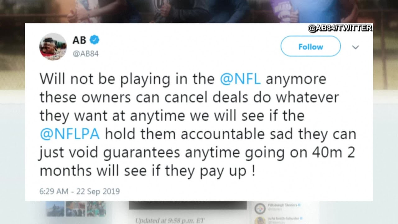 In Cryptic Tweet Antonio Brown Appears To Retire From Nfl