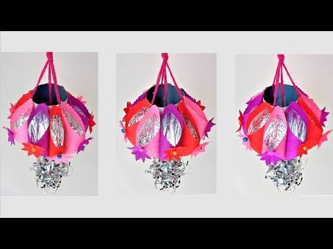 New Roof Hanging Idea From Waste Materials | DIY Paper Craft | Handmade Craft