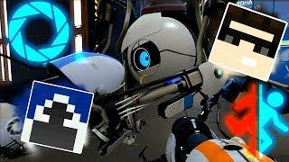 НЕМНОГО ПОРТАЛА С ФРИЗОМ :D Portal 2 Mr.Freeze & iFawkeS CooP!