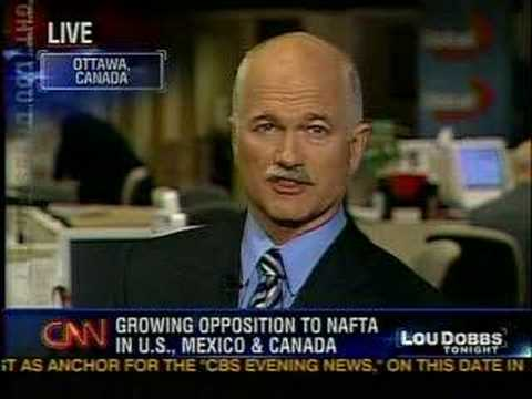 Jack Layton Appears on Lou Dobbs