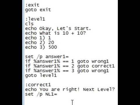 How to make a game with notepad code