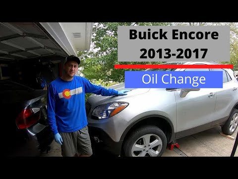 OIL CHANGE - 2015 Buick Encore - COMPLETE DIY- 1.4L GM Turbo Engine (Chevy Cruize, Trax, Sonic)