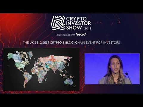 Galia Benartzi Speaks at the Crypto Investor Show in London, 2018