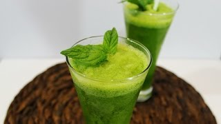 Lemon Mint Juice / Smoothie  (mint Lemonade)                   ليمون و نعنع