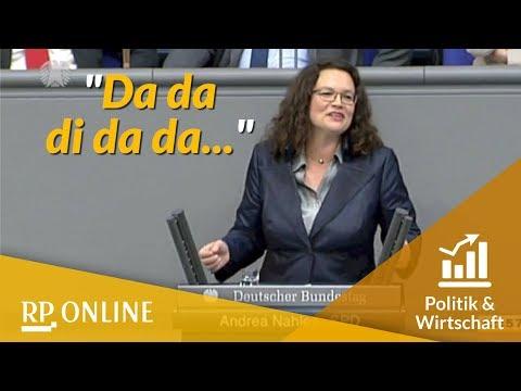 Rückblick: Nahles singt Pippi-Langstrumpf-Lied im Bundestag