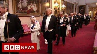 Trump Arrives At State Banquet Bbc News