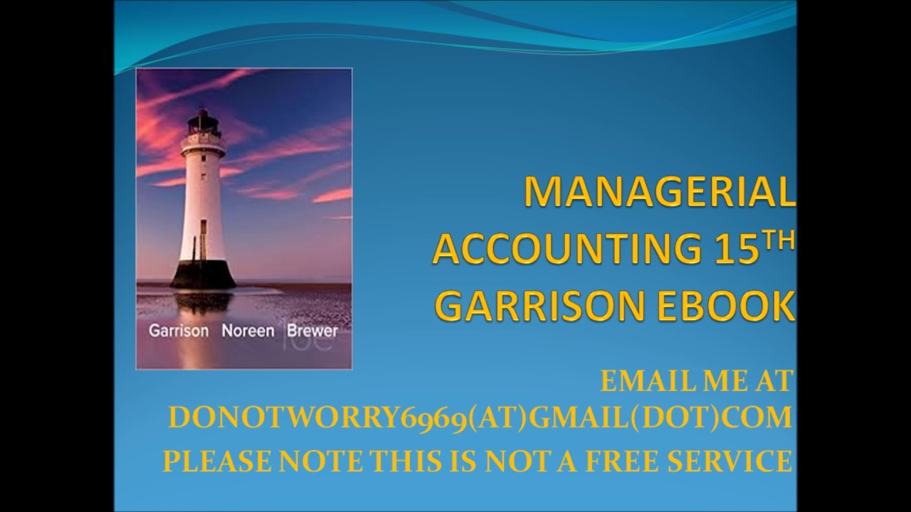 Managerial accounting 16 garrison ebook youtube managerial accounting 16 garrison ebook fandeluxe Choice Image