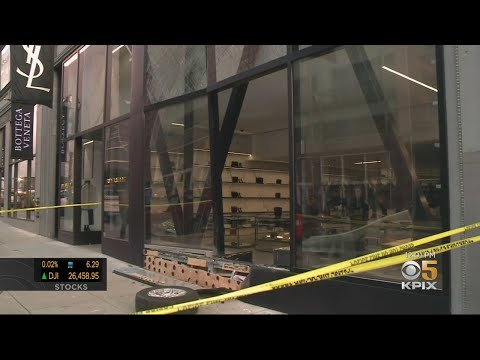 Yves Saint Laurent Store Window Smashed In During San Francisco Robbery