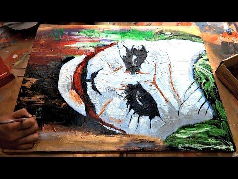 The Joker Abstract Speed Painting Youtube