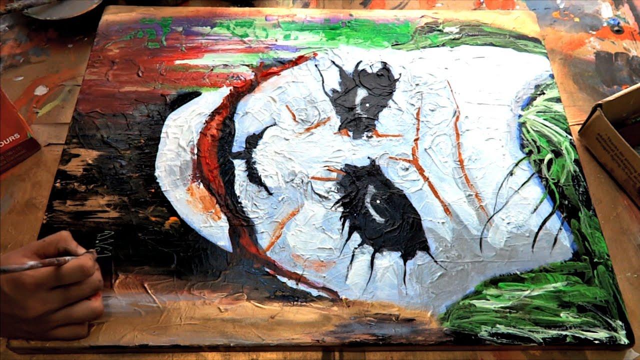 The Joker Abstract Speed Painting