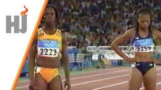 2004 Athènes - Veronica Campbell contre Allyson Felix sur 200m