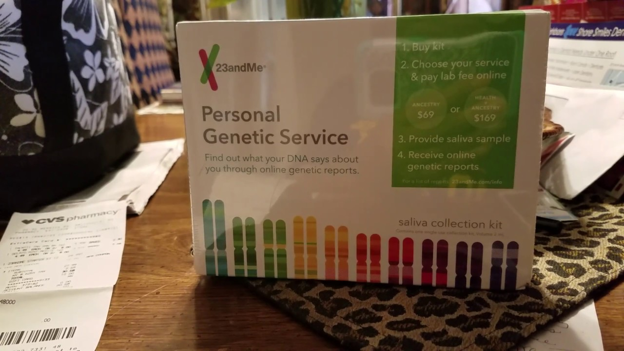 bought a 23andme genetic kit from cvs youtube
