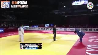 Judo Grand Slam Tokyo 2014 Bronze 90kg KIM Jae Yun KOR vs NAGASAWA Kenta JPN