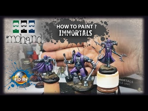 ( Fr & Eng ) How To Paint : Immortal From Eden By Happy Games Factory