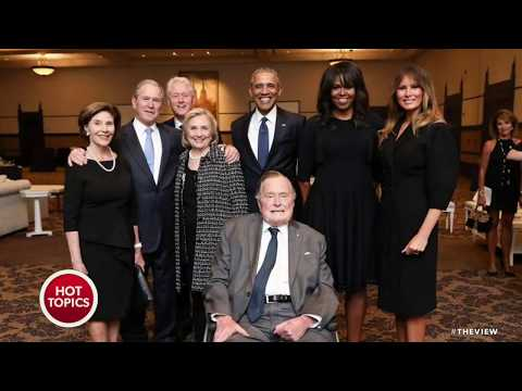 Four Former Presidents Gather To Honor Barbara Bush, But Not Pres. Trump   The View