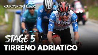 Tirreno–Adriatico 2021 - Stage 5 Highlights | Cycling | Eurosport