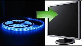 замена подсветки на светодиоды CCFL to LED монитор BENQ