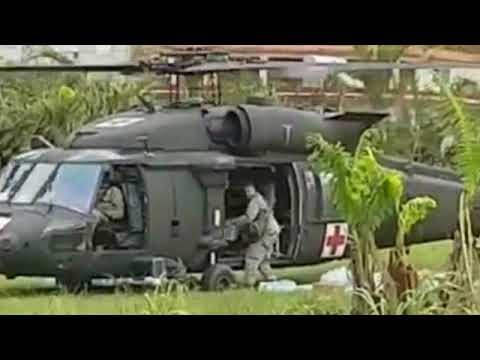 Military Relief aid delivered via Helicopter in Puerto Rico