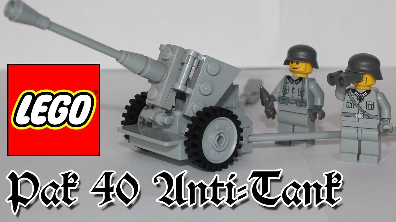 LEGO Instructions - German WWII Pak-40 Anti-tank gun