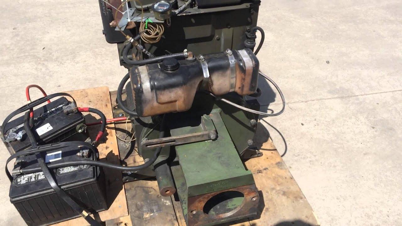Hatz 2M40L Military Surplus 2 Cylinder Diesel Engine 6 Test Run