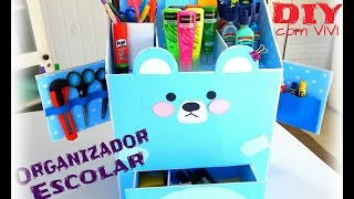 Organizador Escolar 2 – Urso Kawaii / DIY Kawaii Box