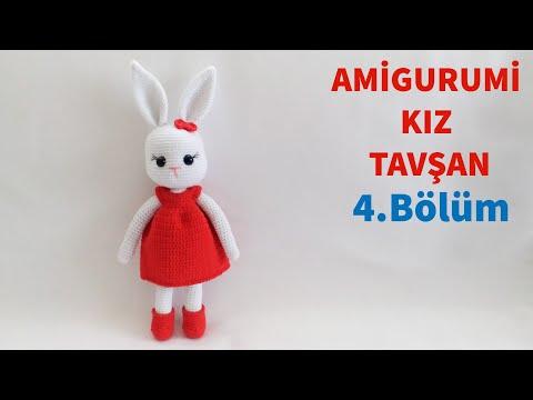 Amigurumi Örgü Kız Tavşan Yapımı / Elbise, Ayakkabı Ve Toka Yapılışı 4/4 (Gül Hanım)