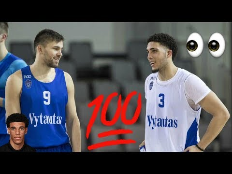 LiAngelo Ball And LaMelo Ball First Official Team Practice in Lithuania - Ball Family In Lithuania